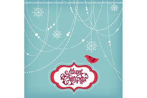 Christmas Clip Art, bird, garlands