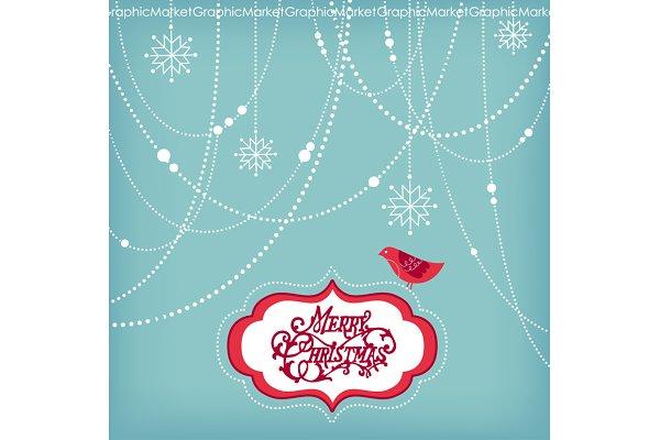 Christmas Clip Art, bird, garlands