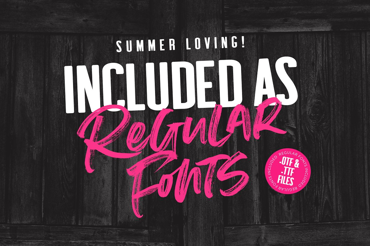 Summer Loving Font Collection in Display Fonts - product preview 7