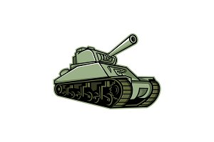 M4 Sherman Medium Tank Mascot