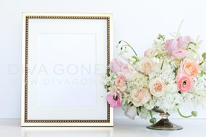 Styled Stock Photo - Gold Frame