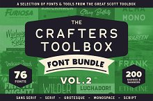 Crafters Toolbox Vol.2 - Font bundle by  in Display Fonts