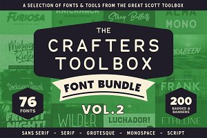 Crafters Toolbox Vol.2 - Font bundle