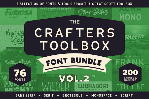 Fonts: Great Scott - Crafters Toolbox Vol.2 - Font bundle