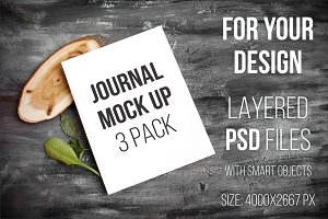 3 for 3$ Journal Mock Up