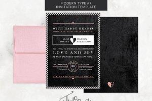 Modern Type & Chalkboard Invitation