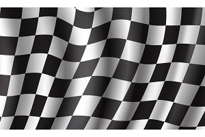 Racing flag 3d background for race sport design