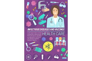 Infectious disease medicine and vaccine banner