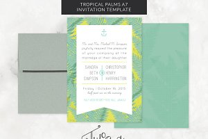 Tropical Palms Invitation Template