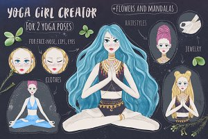 Yoga girl Creator for 2 poses