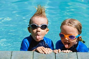 Little swimmers have a fun