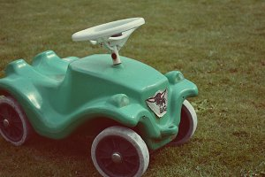 Used Green Bobby Car Toy