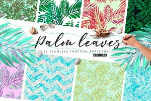 Palm Leaves | 12 Vector Patterns
