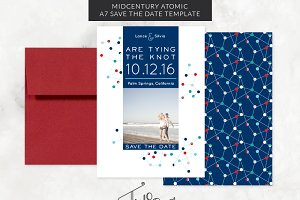 Mid-Century Modern Save the Date