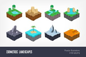 isometric landscape game islands