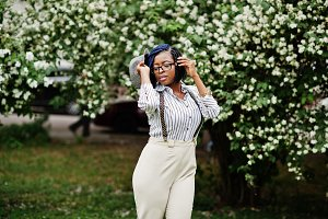 Stylish african american