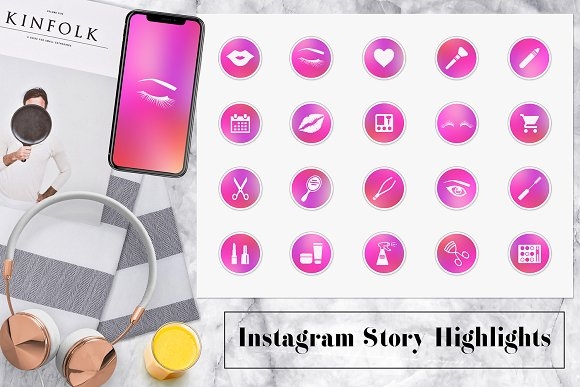 Makeup Artist Icons in Instagram Templates - product preview 1