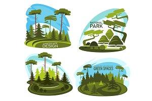 Landscape design icon of gardening service company