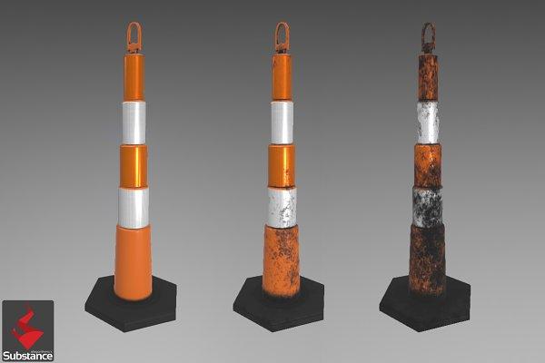 3D Urban: Rev A Studios | THE SHOP - Channelizer Traffic Cone