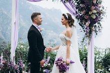 Awesome wedding couple on ceremony