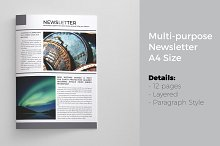 Newsletter Template 12 Pages
