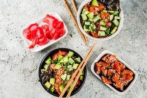 Sushi poke bowl