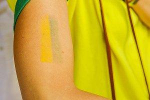 Brazil yellow and green tattoo - WC