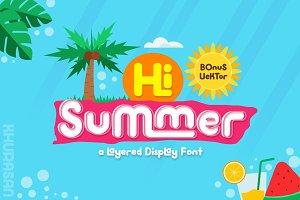 Hi Summer Layered Font