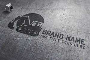 Construction Logo. Vector & Mock-Up