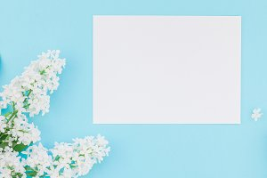 Blank frame mockup with white