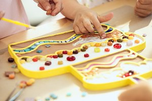 mosaic puzzle art for kids, children's creative game