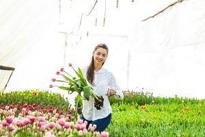 Beautiful female florist