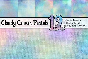 12 Pastel Canvas Textures