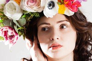 Creavtive art fashion woman portrait