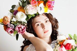 Natural flower fashion concept