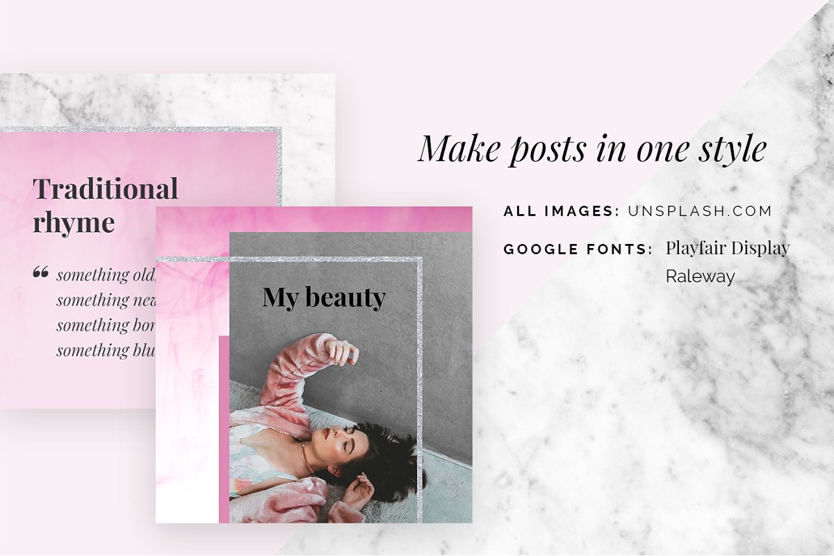 BEAUTY - social media template in Instagram Templates - product preview 3