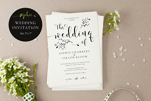 Wedding Invitation Template, Sophie