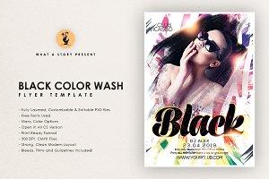 Black Color Wash