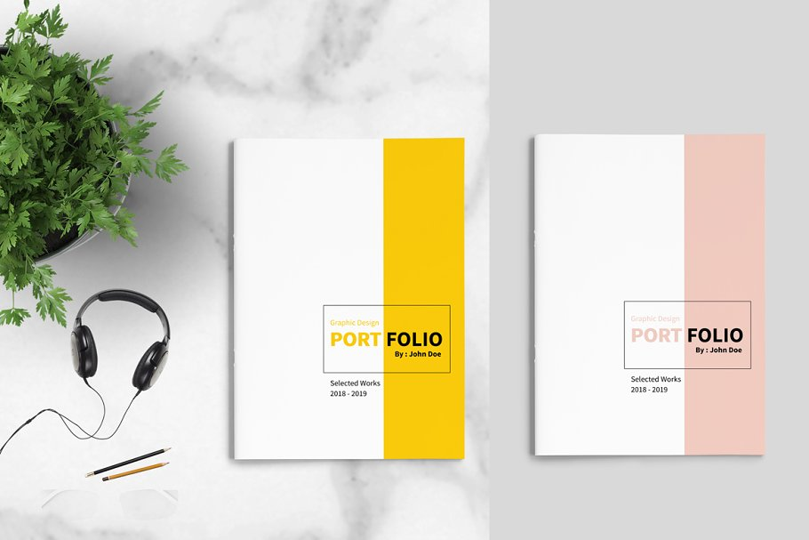 Graphic Design Portfolio Template ~ Brochure Templates