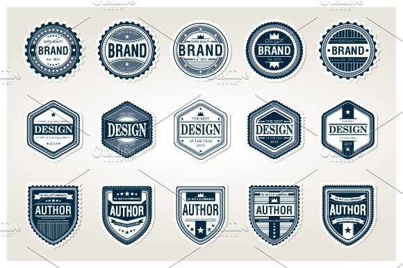 awesome badges template graphic objects creative market