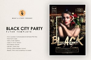 Black City Night