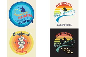surf illustration, vectors, t-shirt