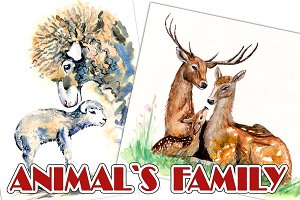 Animals family.