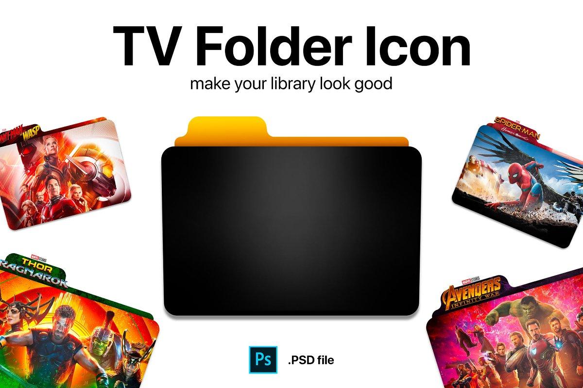 Tv Folder Icon Icons Creative Market