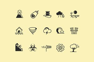 15 Natural Disaster Icons