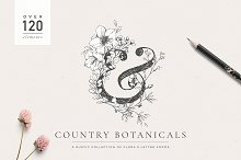 Country Botanicals & Monograms by  in Illustrations