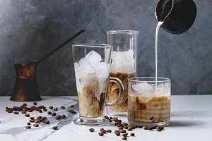 Iced coffee cocktail