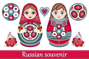 Matryoshka. Russian souvenir.