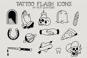 Traditional Tattoo Flash Icons