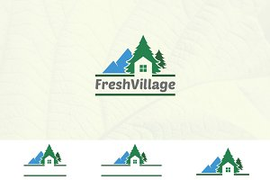 House in Nature Pine Village Logo